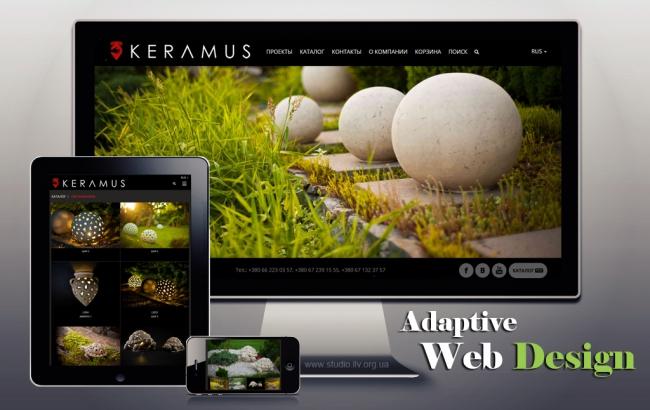 Интернет магазин: Ателье «KERAMUS» — производитель архитектурной, ландшафтной и интерьерной керамики