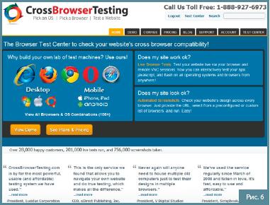 CrossBrowser Testing тестирование сайта