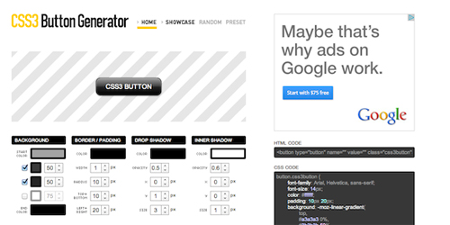 Создание web-кнопок (CSS3 Button Generator)
