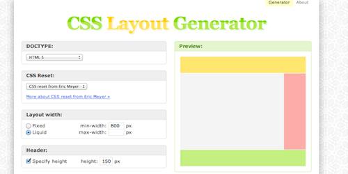 Создание макета страницы на CSS3 (CSS3 Layout Generator)