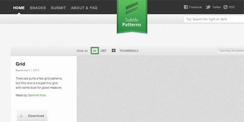 Бесшовные узоры для фона сайта (Subtle Patterns)